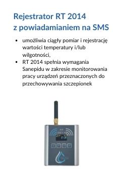 Rejestrator RT 2014 z powiadamianiem na SMS
